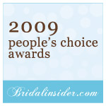 2009 Bridalinsider's People's Choice Award