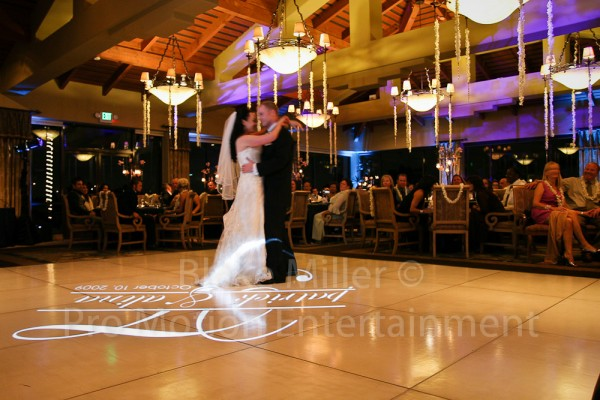 San Diego Wedding Gobo Monogram Projection Image (27)