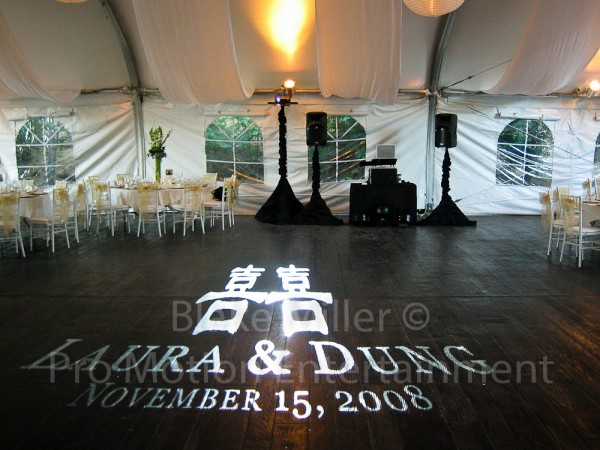 San Diego Wedding Gobo Monogram Projection Image (26)