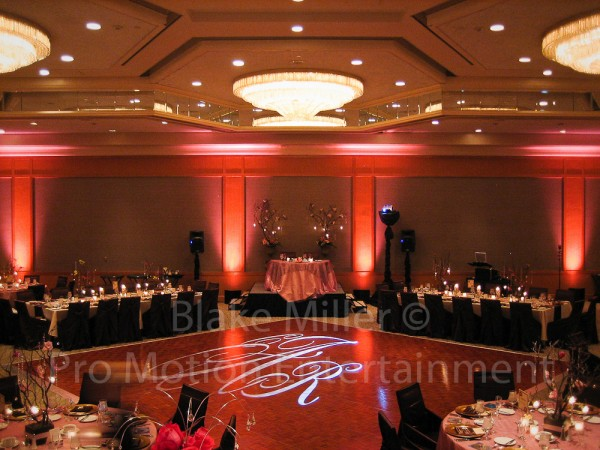 San Diego Wedding Gobo Monogram Projection Image (25)
