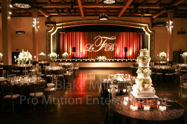 San Diego Wedding Gobo Monogram Projection Image (23)
