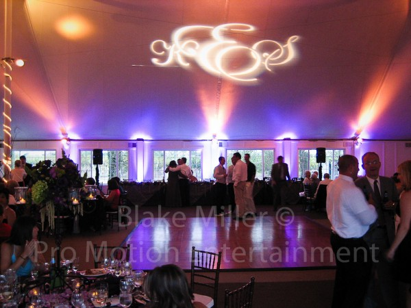 San Diego Wedding Gobo Monogram Projection Image (19)