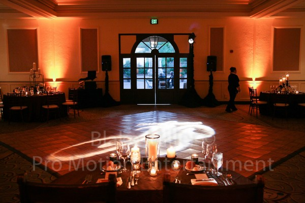 San Diego Wedding Gobo Monogram Projection Image (17)
