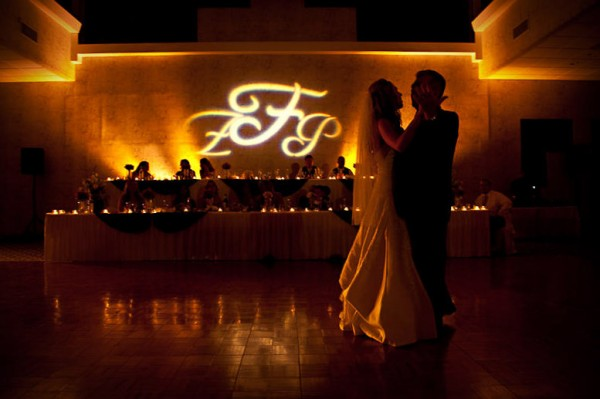 San Diego Wedding Gobo Monogram Projection Image (16)