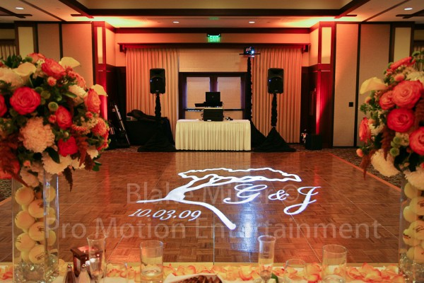 San Diego Wedding Gobo Monogram Projection Image (15)