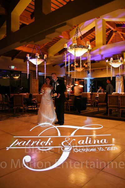 San Diego Wedding Gobo Monogram Projection Image (14)