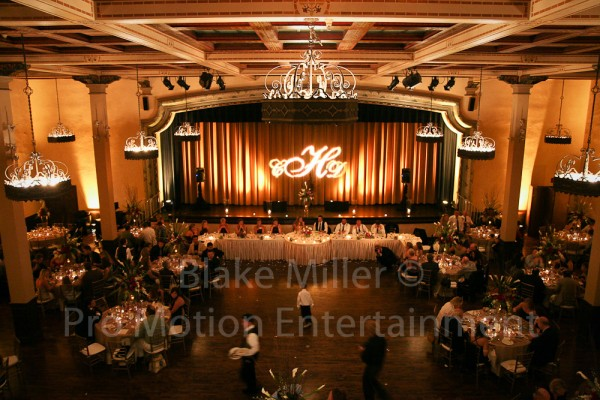 San Diego Wedding Gobo Monogram Projection Image (13)