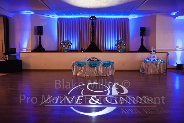 San Diego Wedding Gobo Monogram Projection Image (12)