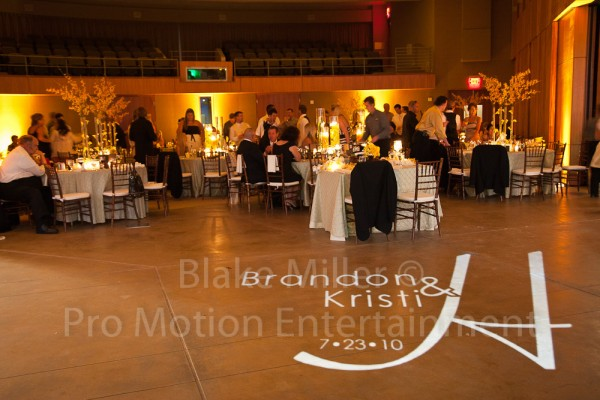 San Diego Wedding Gobo Monogram Projection Image (10)