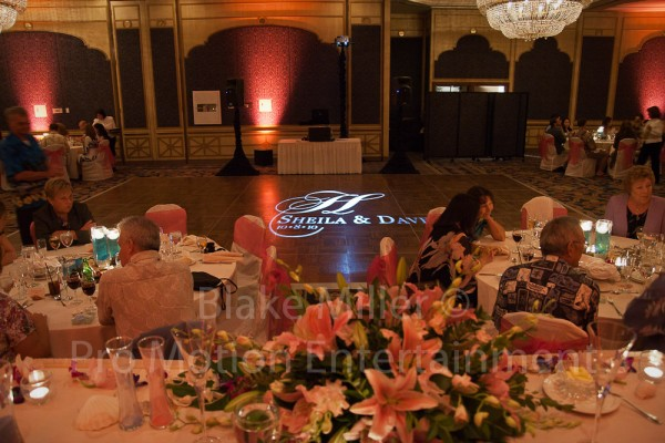 San Diego Wedding Gobo Monogram Projection Image (6)