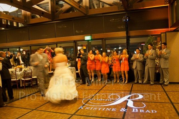 San Diego Wedding Gobo Monogram Projection Image (5)