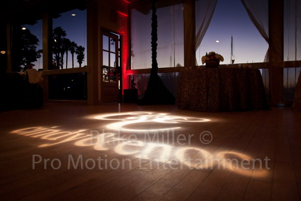 San Diego Wedding Gobo Monogram Projection Image (4)