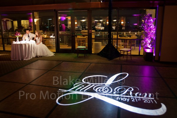 San Diego Wedding Gobo Monogram Projection Image (2)