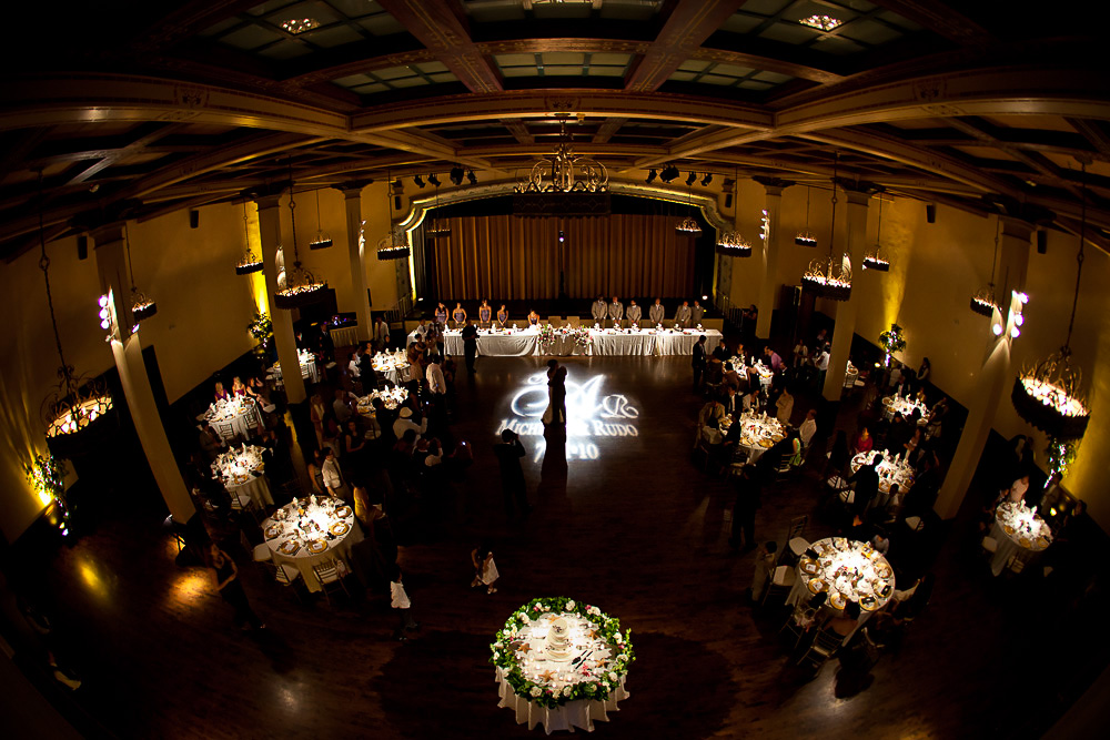 Michelle & Rudo's Custom Gobo Monogram | The Prado | San Diego