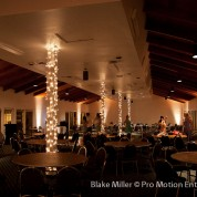 Marina Village Wedding String Lighting & Uplights