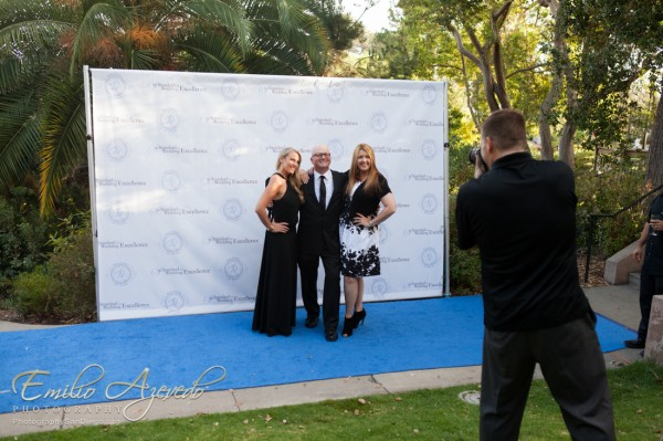 Thanks to Emilio Azevedo for this photo of Blake hard at work on the blue carpet!
